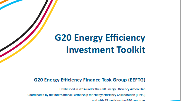 The G20 Energy Efficiency Forum and the Energy Efficiency Investment Toolkit